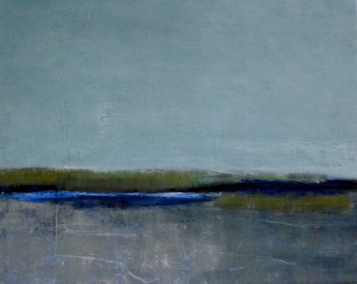 Im Winter (2), Mischtechnik auf Leinwand, 40x50cm, 2011