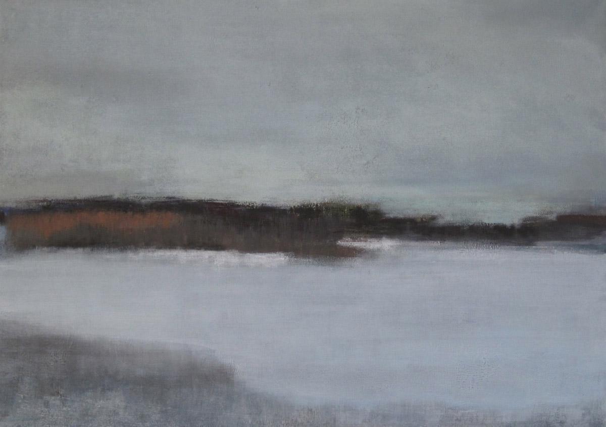 Im Winter(6), Mischtechnik auf Leinwand, 50x70cm, 2012