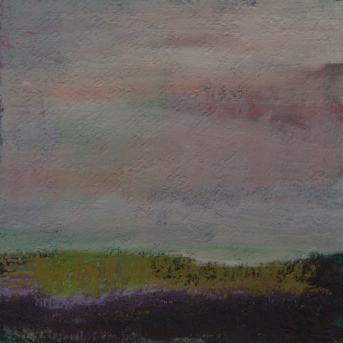 Nordische Landschaft (2), Mischtechnik auf Filzpappe, 23x23cm, 2015