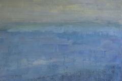 Blau, Mischtechnik auf Leinwand, 100x120cm, 2015