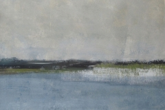 Fluss12, Mischtechnik auf Leinwand, 40x50cm, 2011